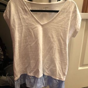 LOFT short sleeve blouse